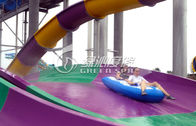 Outdoor Fiberglass Water Slides / Boomerang Water Slide for commercial playground equipment