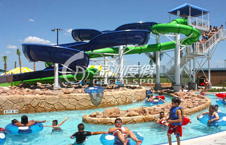 Swimming pool Fiberglass Spiral Water Slide , Family Resorts Water Slides for Water Park Resort