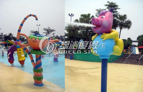 Kids and Adults Aqua Park Equipment Teapot Water Spray for Summer Entertainment